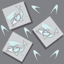 Dolphin Fabric design using Illustrator