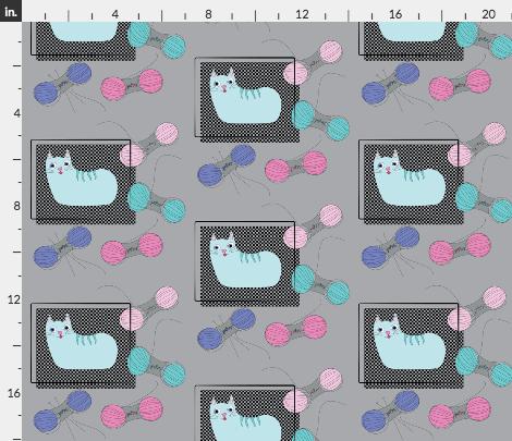 Cat design on fabric using Illustrator